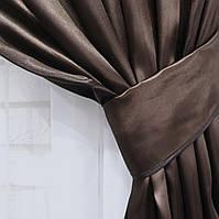 Ткань для штор  из атласа. Цвет  венге, код №28ша