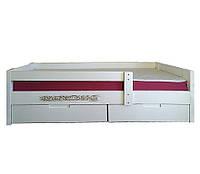 Кровать Артур подростковая с выдвижными ящиками массив ольхи