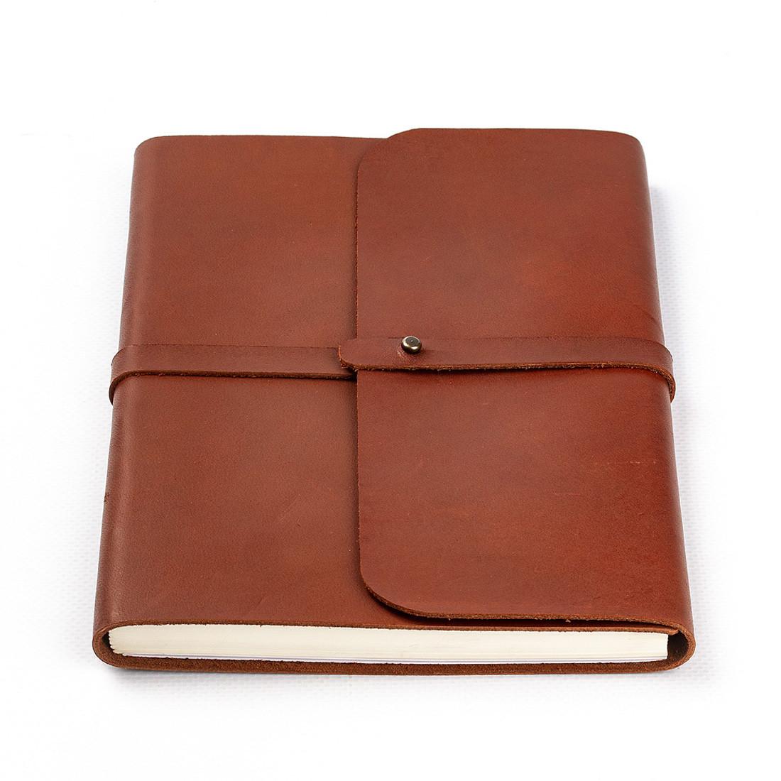 Кожаный блокнот M. Софтбук А5. Блокнот в кожаной обложке