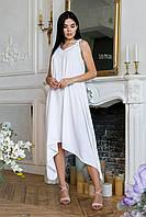 Свободное асимметричное платье без рукава на бретелях 64PL1319, фото 1