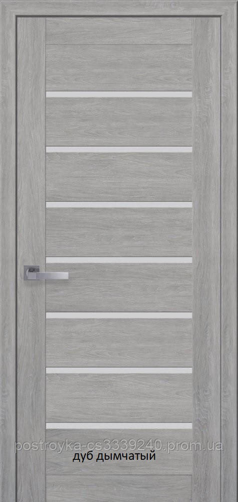 Двери межкомнатные Мода Леона Новый Стиль ПВХ Ultra со стеклом сатин 60, 70, 80, 90