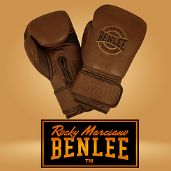 Боксерские перчатки Benlee BARBELLO 14oz, кожа, коричневые