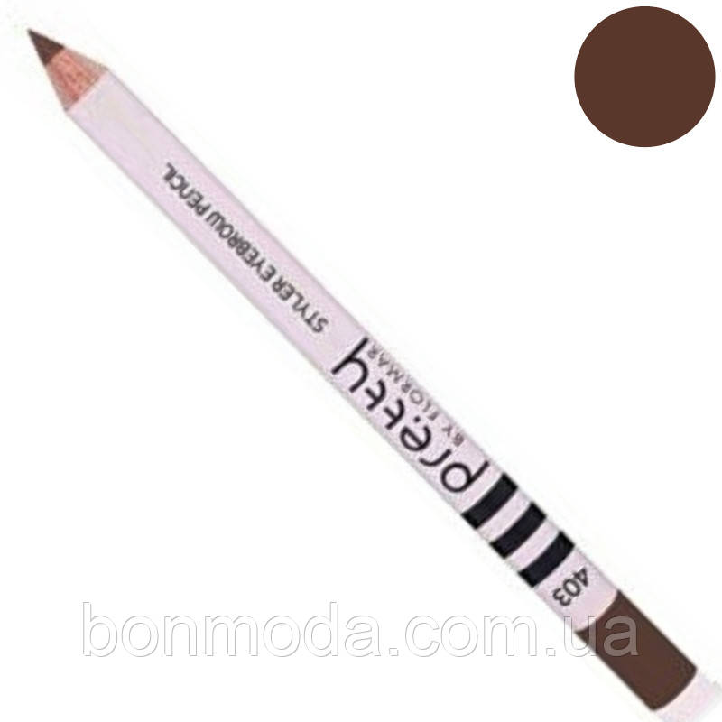 "Карандаш для бровей Flormar Pretty Styler Eyebrow Pencil ""Brunette"" № 403"