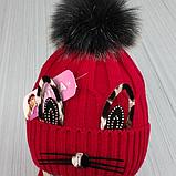 М 94041. Комплект зимовий для дівчинки шапка і снуд , різні кольори, фото 8