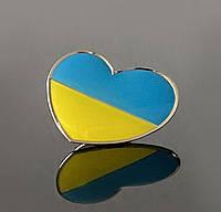 Значок Флаг Украины в виде сердца