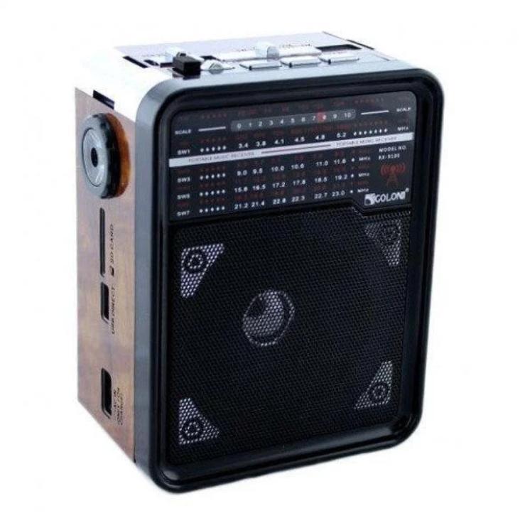 Радіоприймач GOLON RX-9100 з MP3, USB+SD, Портативне Радіо