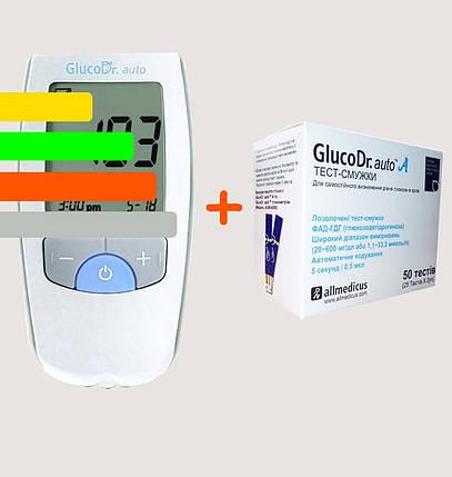 Глюкометр Глюкодоктор GlucoDr auto + 50 тест-полосок, фото 2