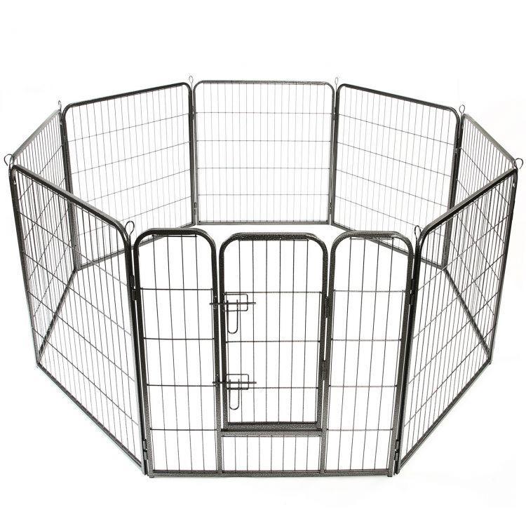 Металевий манеж для собак та цуценят Dog Land вольєр для собак, висота 80 см