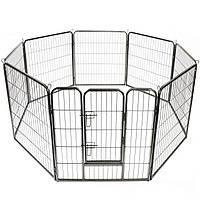 Металлический манеж для собак и щенков Dog Land вольер для собак, высота 80 см