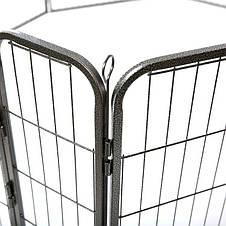 Металевий манеж для собак та цуценят Dog Land вольєр для собак, висота 80 см, фото 2