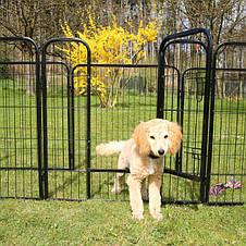 Металевий манеж для собак та цуценят Dog Land вольєр для собак, висота 80 см, фото 3
