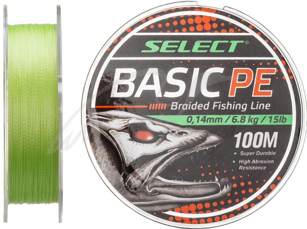 Шнур Select Basic PE 100m (салат.) 0.16 mm 18LB/8.3 kg