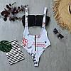 Женский купальник двойка с имитацией сдельного 66KP465Q