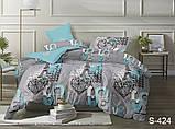 Двуспальный комплект постельного белья Сатин люкс ТМ TAG., фото 10