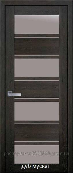 Двері міжкімнатні Мода Еліза Новий Стиль ПВХ Ultra зі склом сатин 60, 70, 80, 90