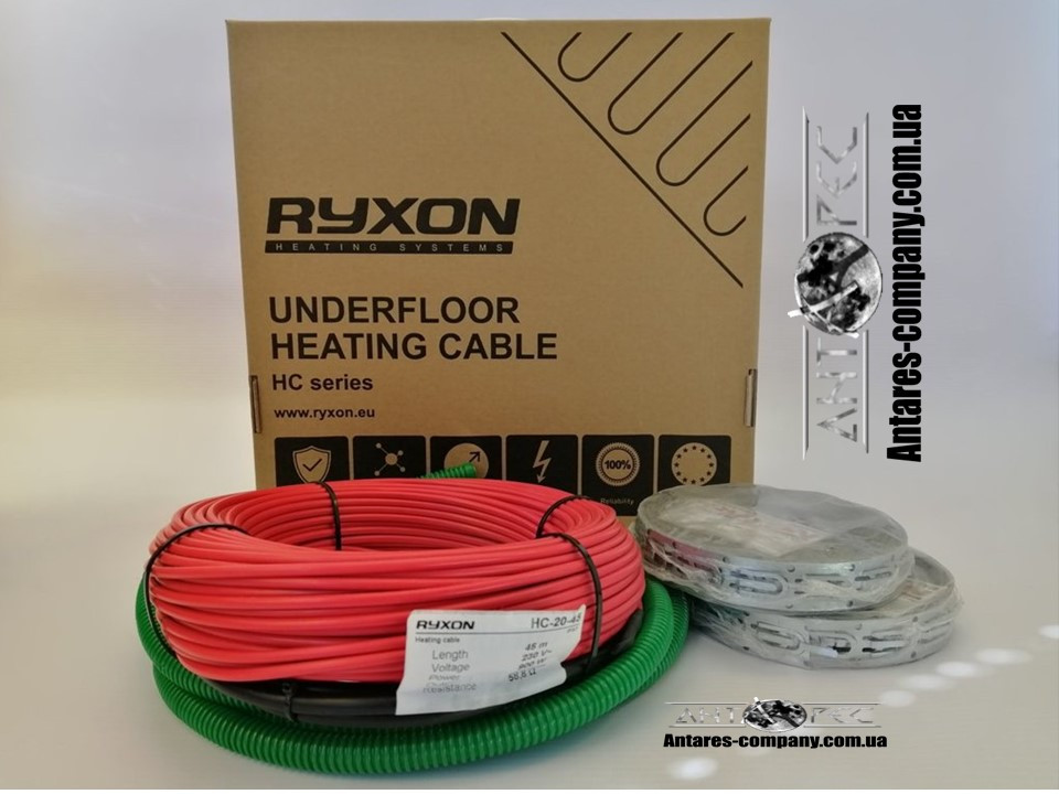Нагревательный кабель для обогрева пола RYXON HC-20 ОБОГРЕВ (9 М2)