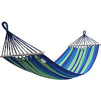 Гамак подвесной с перекладиной, мексиканский Сине-зеленый