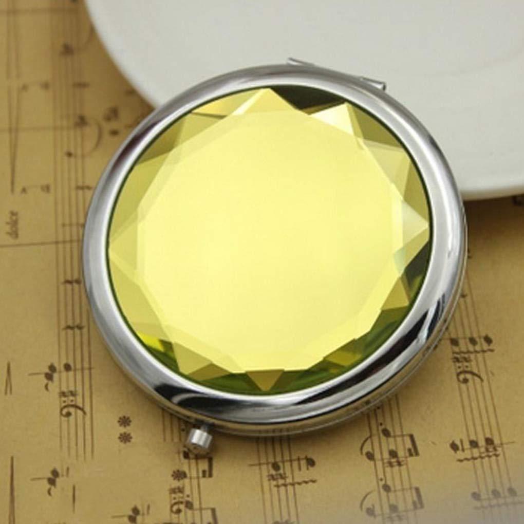Двойное карманное зеркальце (желтый)