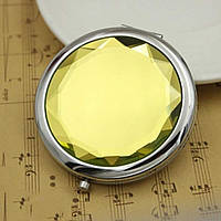 Двойное карманное зеркальце (желтый), фото 1
