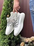 Модные мужские кроссовки Adidas x Yeezy Boost,белые, фото 2