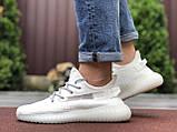 Модные мужские кроссовки Adidas x Yeezy Boost,белые, фото 4