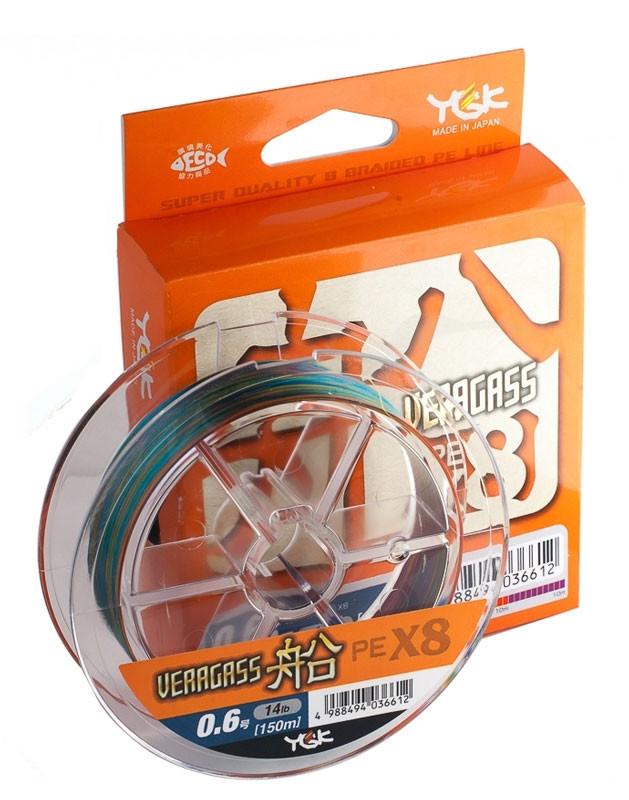 Шнур YGK Veragass Fune X8 - 200m #0.6/5.2 kg 10m x 5 colors