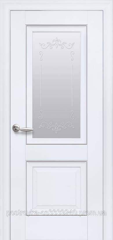 Двери межкомнатные Элегант Имидж Новый Стиль ПВХ со стеклом сатин  60, 70, 80, 90
