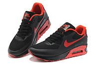 Кроссовки мужские  Nike Air Max 90 Hyperfuse Черно-оранжевые