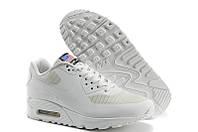 Кроссовки белые мужские Nike Air Max 90 Hyperfuse USA flag Independance day с флагом
