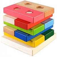 Руди Конструктор-пирамида 'Логика' разноцвет Руди Ду-32 (дерево)