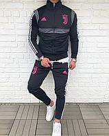 Спортивный костюм мужской черный Adidas FC Juventus