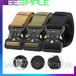 Тактический нейлоновый ремень Tactical Belt 125 см / Мужской ремень