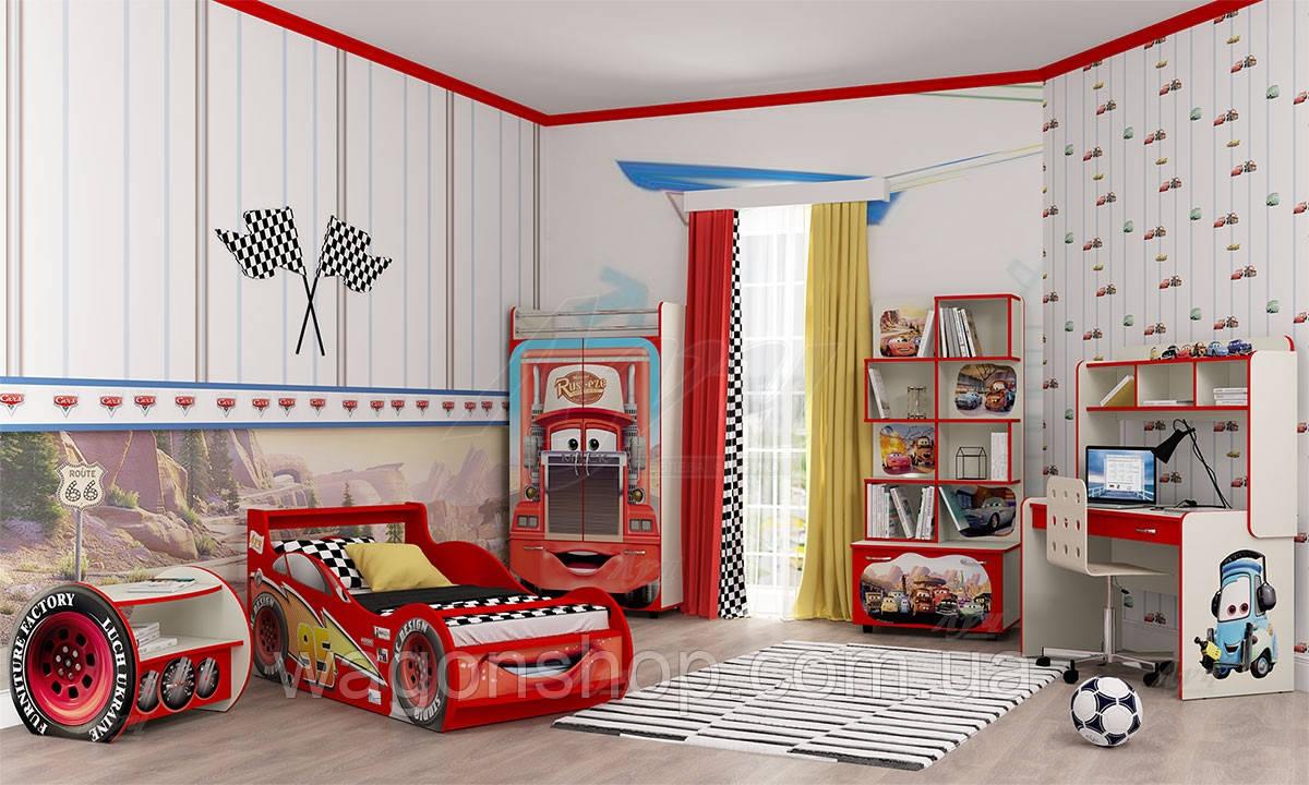Детская комната Молния Маквин «Тачки» Красный