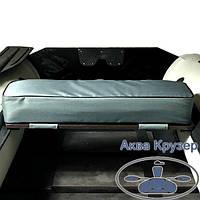 М'яка накладка 840х200х100 мм універсальна на сидіння для надувних човнів ПВХ Колібрі, Барк та ін., колір сірий