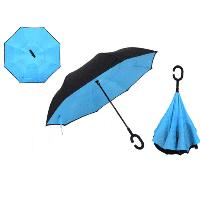 Зонт обратного сложения (зонт наоборот, антизонт) Up Brella Голубой