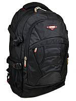 Большой мужской городской рюкзак цвет черный 35*55*23см In Eavas (8705 black)
