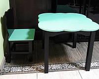 Набор детской мебели стол +1 стул Мишки черный-мята