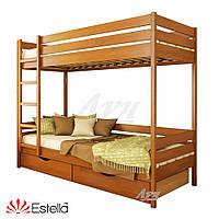 Деревянная Кровать Дует щит Бук тм Estella 80х190