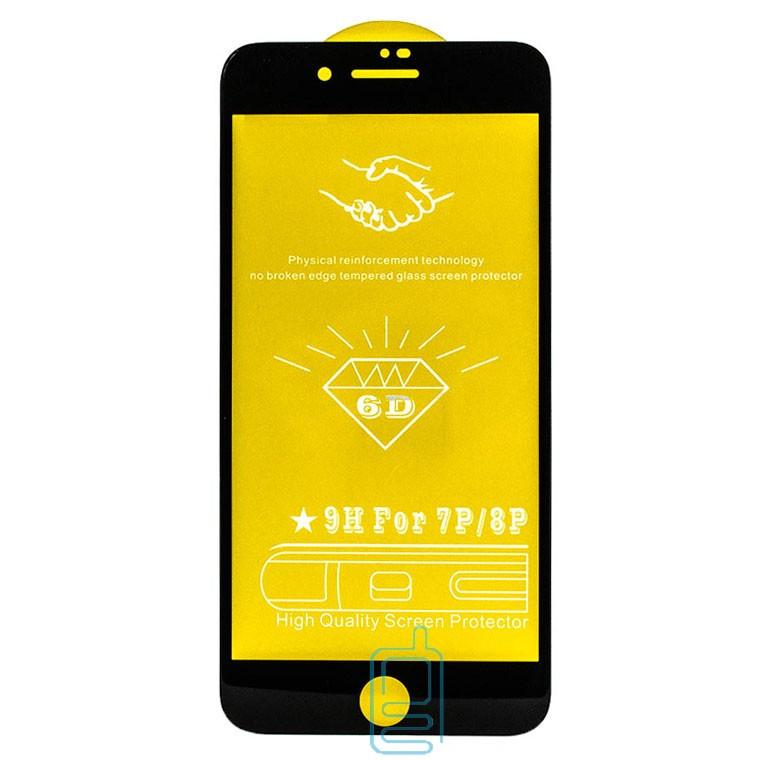 Защитное стекло 6D Apple iPhone 6 Plus black тех.пакет