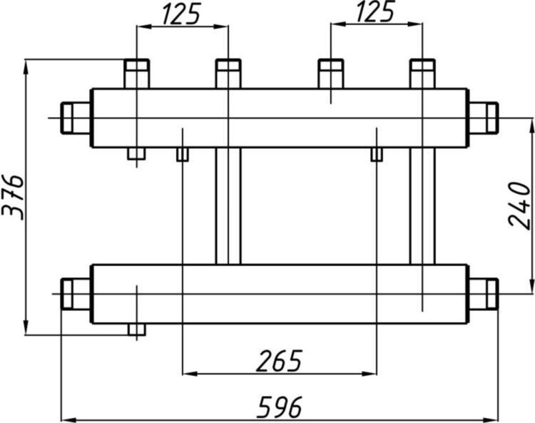 Коллектор Termojet СК-252.125 без изоляции