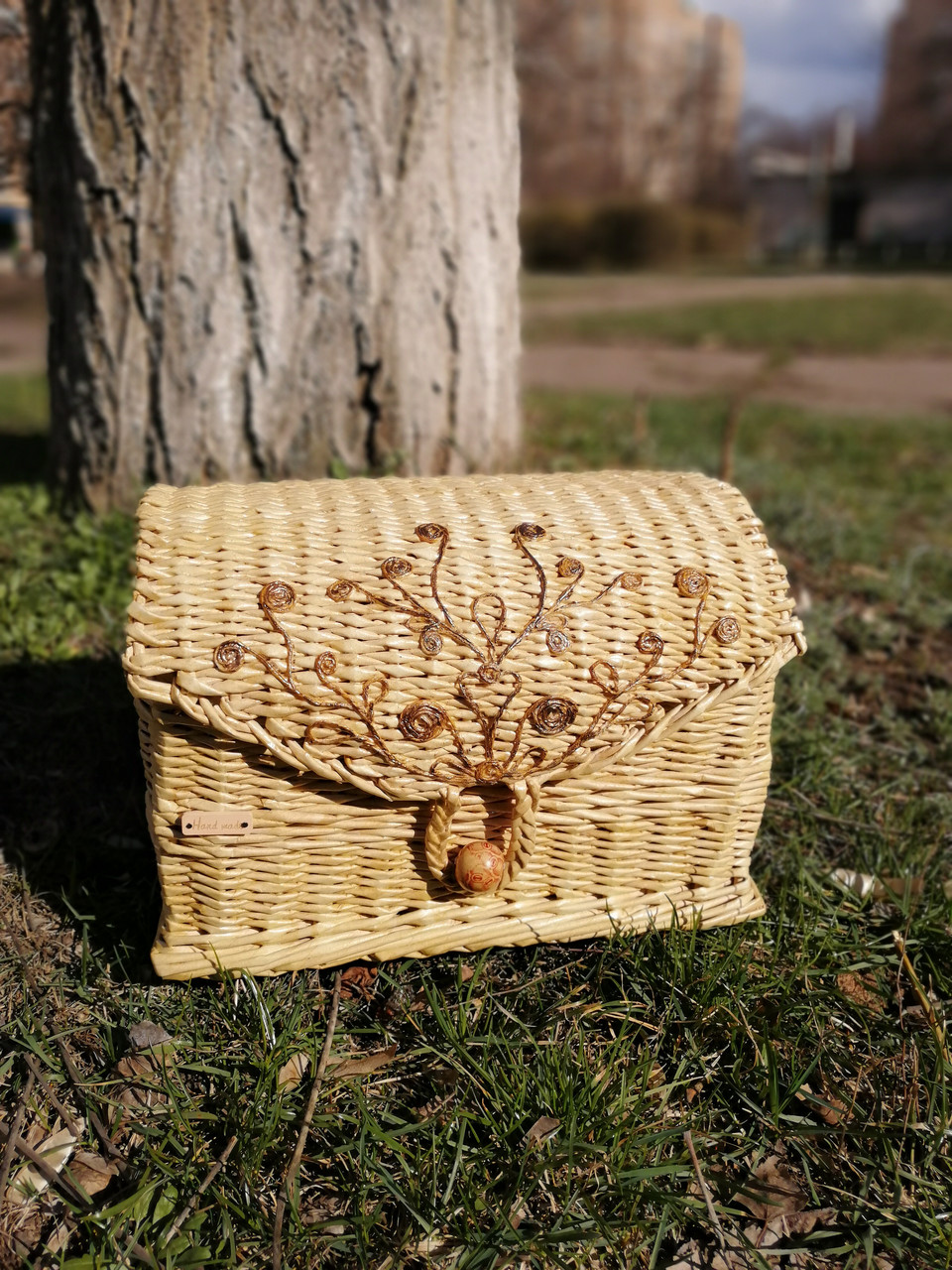 Сундук ящик из лозы