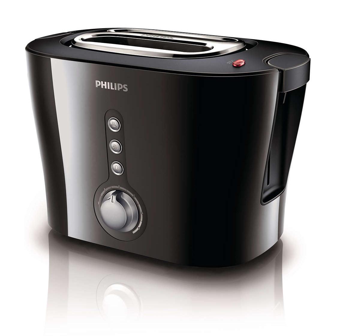 Тостер Philips HD 2630/20 1000 Вт Чорний