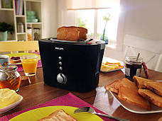 Тостер Philips HD 2630/20 1000 Вт Чорний, фото 2