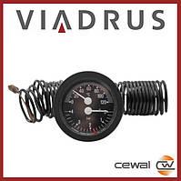 Термоманометр аксиальный CEWAL TI 52 P4бар/120°С (для VIADRUS)