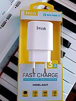 Зарядное устройство для смартфона и планшета с функцией быстрой зарядки  AD-27, мощностью 3 А