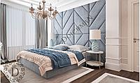 М'які 3D панелі для стін в спальню різної форми