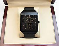 Часы RADO JUBILE CERAMICA 36x48mm Black/Rose Gold. Replica AAA