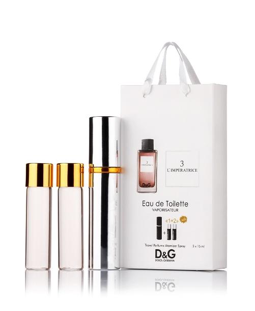Подарочный парфюмерный набор с феромонами женский Dolce&Gabbana L`Imperatrice 3 (Императрица 3) 3x15 мл