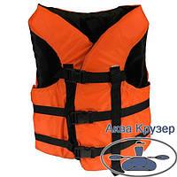 Жилети 100-120 кг страхувальні(спасателные) помаранчеві універсальні для дорослих, сертифіковані, фото 1
