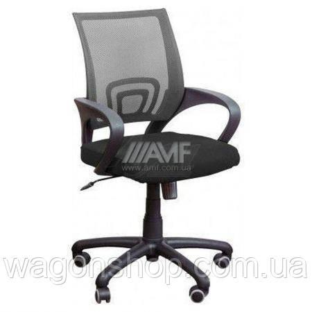 """Кресло """"Веб"""" черная, сетка серая"""